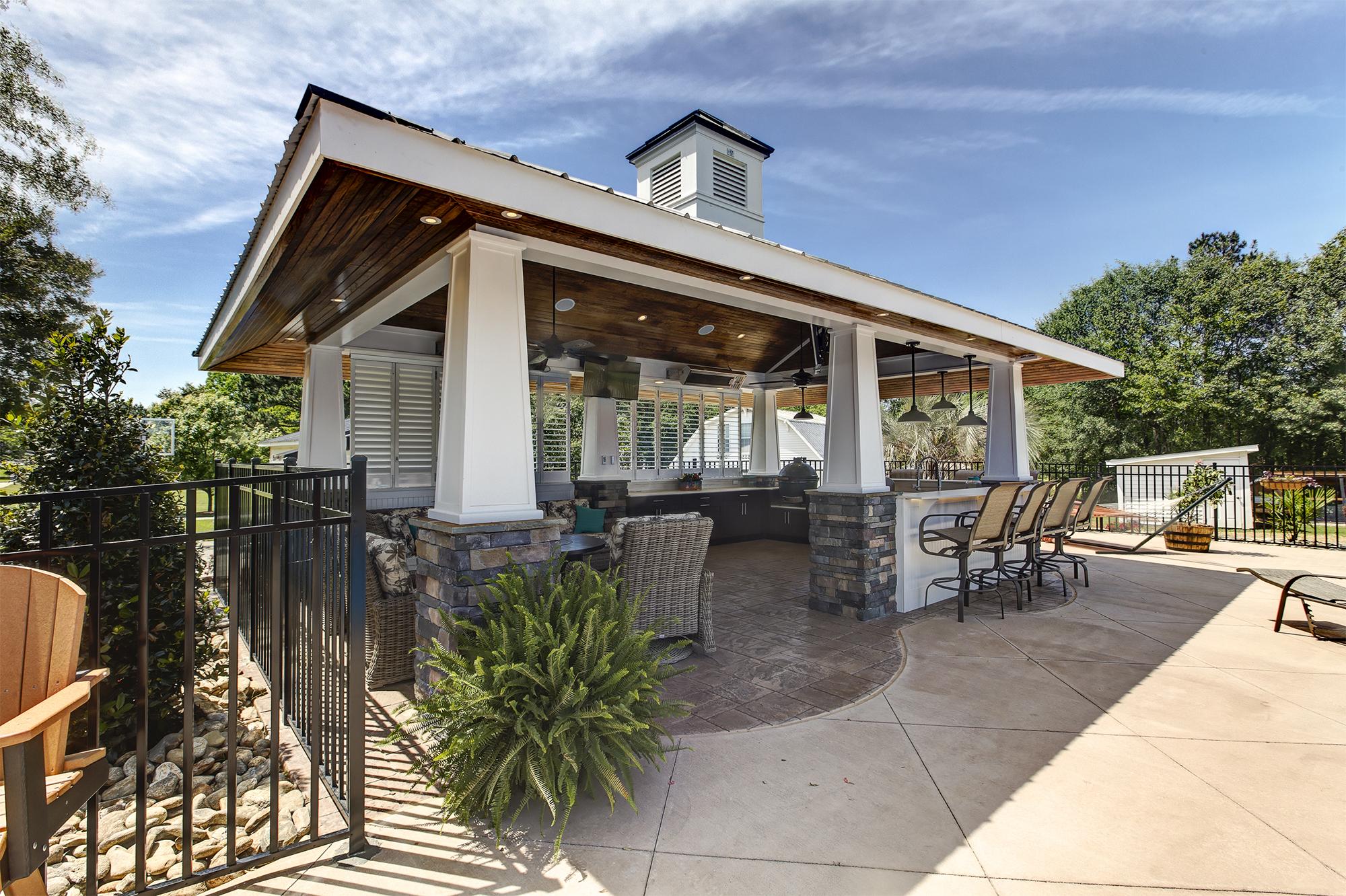 outdoor kitchen cabana