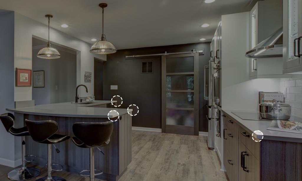 soft corner edges of kitchen