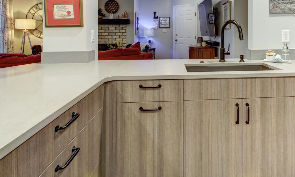 higher handles on cabinets for easier access